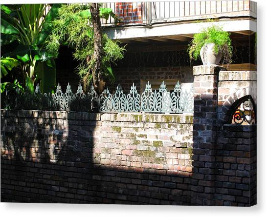 Fence Canvas Print by Tom Hefko