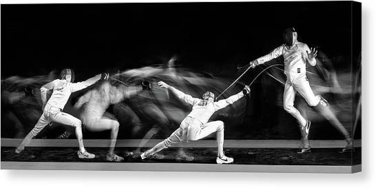 Panorama Canvas Print - Fencing #1 by Hilde Ghesquiere