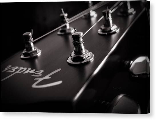 Stringed Instruments Canvas Print - Fender Acoustic I by Bob Orsillo