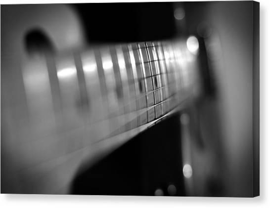 Fender Guitars Canvas Print - Fender Fret by Mark Rogan