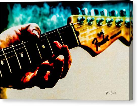 Stratocasters Canvas Print - Fender Strat by Bob Orsillo
