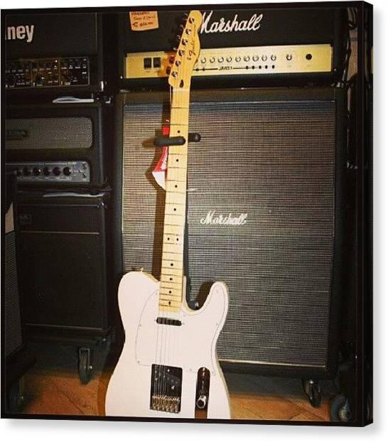 Stratocasters Canvas Print - #fender #telecaster #stratocaster by Philopater Di carlo