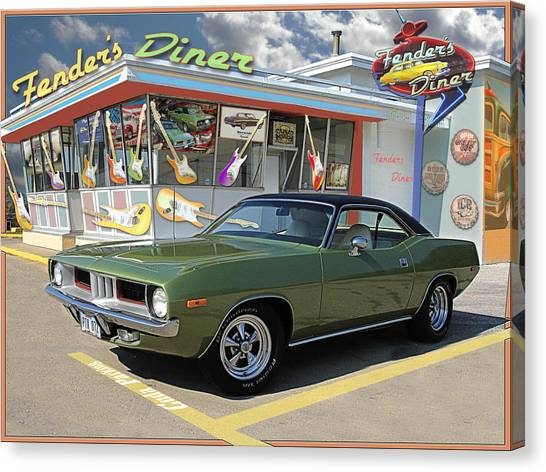 Fenders Diner Canvas Print