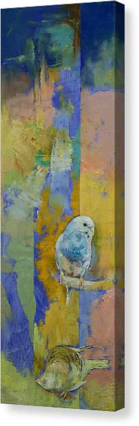 Parakeets Canvas Print - Feng Shui Parakeets by Michael Creese