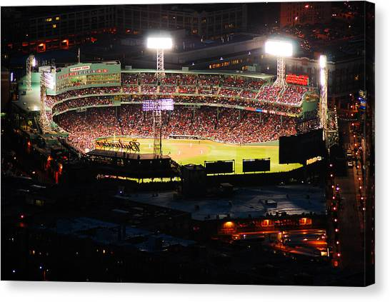 Fenway At Night Canvas Print