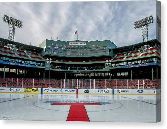 Boston College Canvas Print - Fenway On Ice by Paul Treseler
