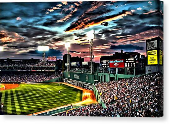 Fenway Park At Sunset Canvas Print