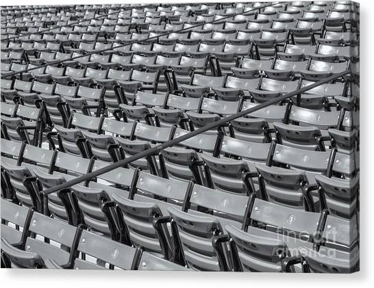 Fenway Park Canvas Print - Fenway Park Grandstand Seats II by Clarence Holmes