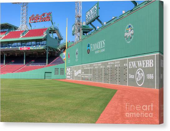 Fenway Park Canvas Print - Fenway Park Green Monster I by Clarence Holmes