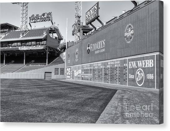 Fenway Park Canvas Print - Fenway Park Green Monster II by Clarence Holmes