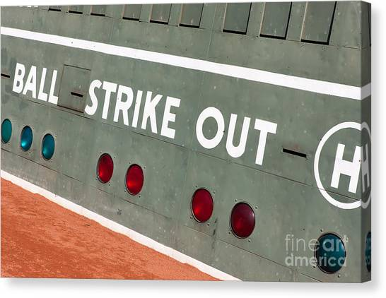 Fenway Park Canvas Print - Fenway Park Green Monster Scoreboard IIi by Clarence Holmes