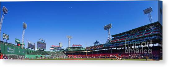 Fenway Canvas Print - Fenway Park- Home Of The Boston Red Sox by Diane Diederich