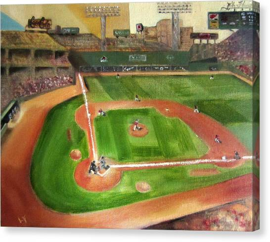 Fenway Canvas Print - Fenway Park by Lindsay Frost
