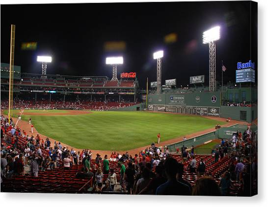 Fenway Park Canvas Print by Mark Wiley