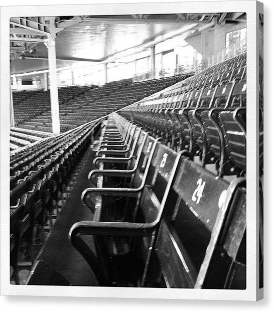 Babe Ruth Canvas Print - Fenway Park Oldest Seats by Micah Watson