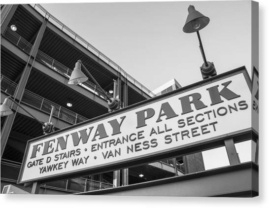 Fenway Park Sign Canvas Print