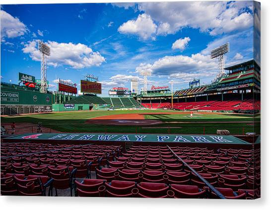 Dugouts Canvas Print - Fenway Park by Tom Gort