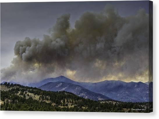Fern Lake Fire Canvas Print by Tom Wilbert