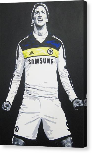 Chelsea Fc Canvas Print - Fernando Torres - Chelsea Fc by Geo Thomson