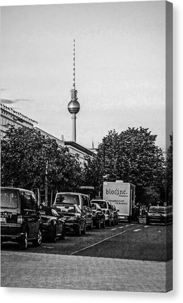 Fernsehturm-tower Canvas Print by Chris Smith