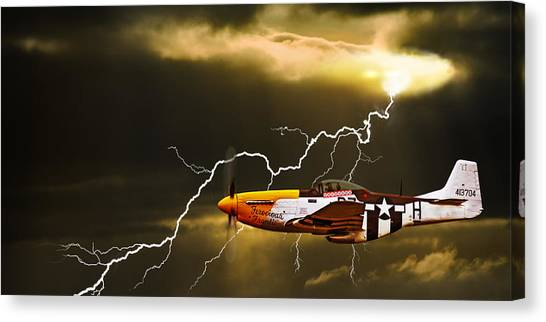 Ferocious Frankie In A Storm Canvas Print