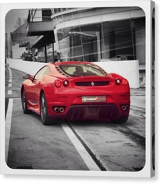 Ferrari Canvas Print - Ferrari - Colorsplash by Luisa Azzolini