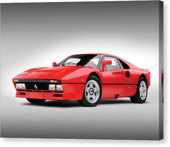 Classic Hotrod Canvas Print - Ferrari 288 Gto by Gianfranco Weiss