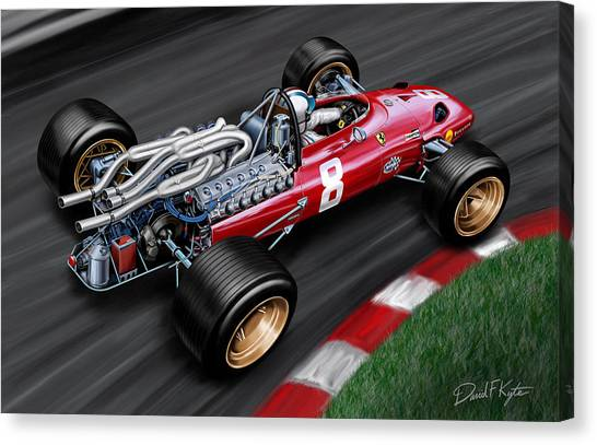 Formula 1 Canvas Print - Ferrari 312 F-1 Car by David Kyte