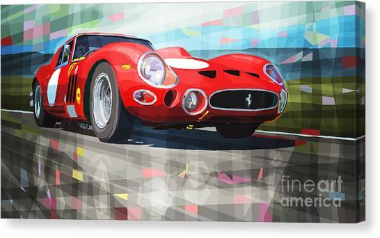 Ferrari Canvas Print - Ferrari 330 Gto 1962 by Yuriy Shevchuk