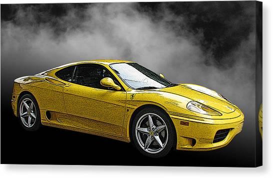 Ferrari 360 Modena Side View Canvas Print
