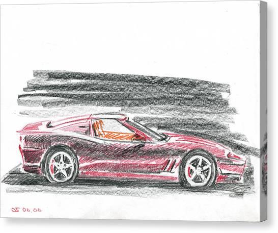 Ferrari 550 Canvas Print by Ildus Galimzyanov