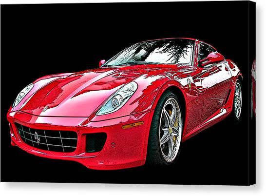 Ferrari 599 Gtb Fiorano Canvas Print