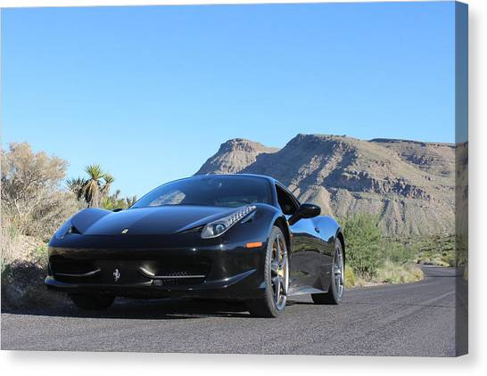 Red Rock Canvas Print - Ferrari And Canyon by Jeff Hawley