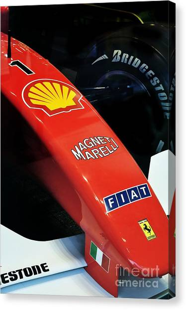 Ferrari  Canvas Print by Andres LaBrada