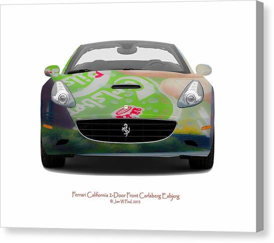 Ferrari California Carlsberg Esbjerg Canvas Print by Jan W Faul