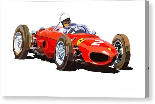 Ferrari Canvas Print - Ferrari Dino 156 1962  by Yuriy Shevchuk