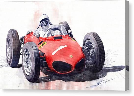 Ferrari Canvas Print - Ferrari Dino 156 F1 1961  by Yuriy Shevchuk