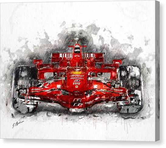 Formula 1 Canvas Print - Ferrari F1 by Gary Bodnar