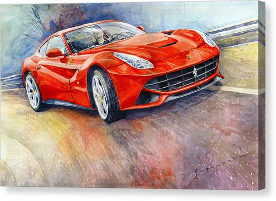 Supplies Canvas Print - 2014 Ferrari F12 Berlinetta  by Yuriy Shevchuk