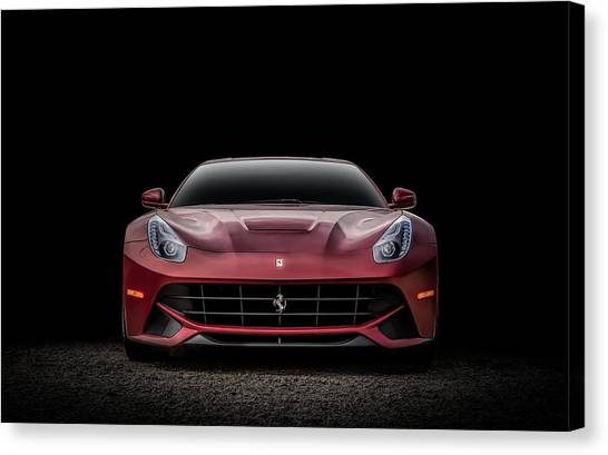 Sports Cars Canvas Print - Ferrari F12 by Douglas Pittman