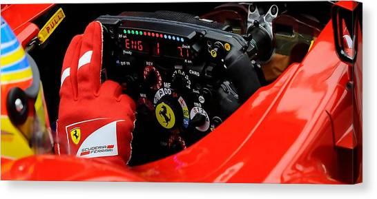 Ferrari Formula 1 Cockpit Canvas Print