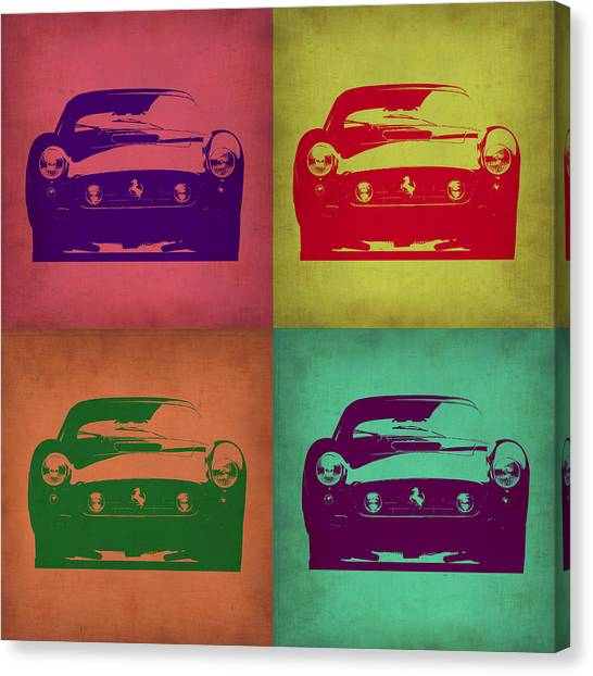 Ferrari Canvas Print - Ferrari Front Pop Art 1 by Naxart Studio