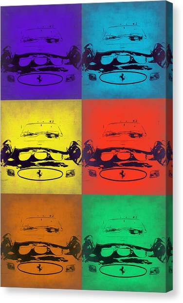 Ferrari Canvas Print - Ferrari Front Pop Art 5 by Naxart Studio