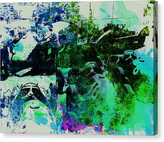 Grand Prix Racing Canvas Print - Ferrari Grand Prix Pit by Naxart Studio