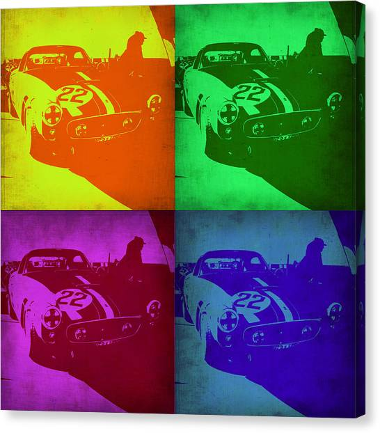 Ferrari Canvas Print - Ferrari Gto Pop Art 1 by Naxart Studio