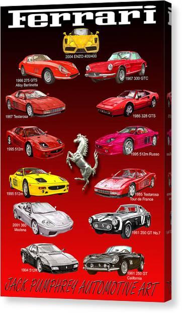Ferrari Poster  Canvas Print