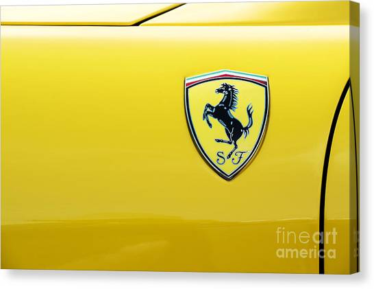 Ferrari Yellow Canvas Print