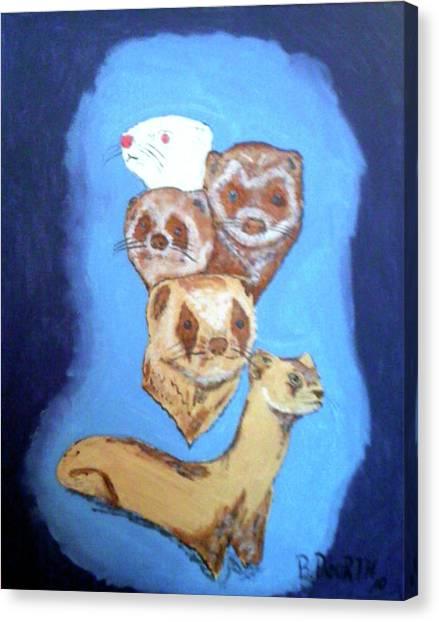 Black-footed Ferret Canvas Print - Ferrets Galore by Brian Dearth