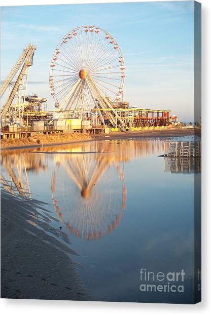 Ferris Wheel Jersey Shore 2 Canvas Print