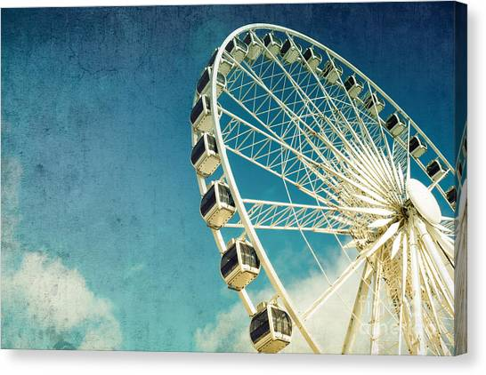 Fair Canvas Print - Ferris Wheel Retro by Jane Rix